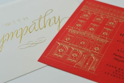 Print Services Foil Stamping